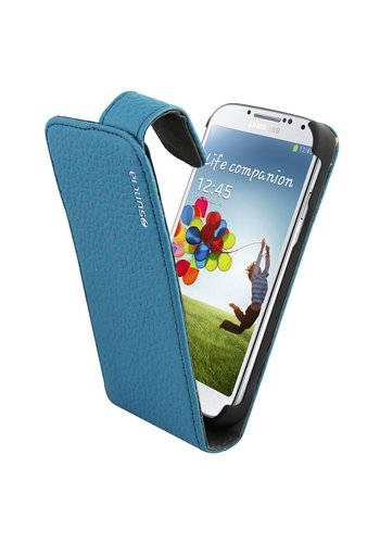Suncia Leather1 i9500 Galaxy S4 Klassiek Blauw