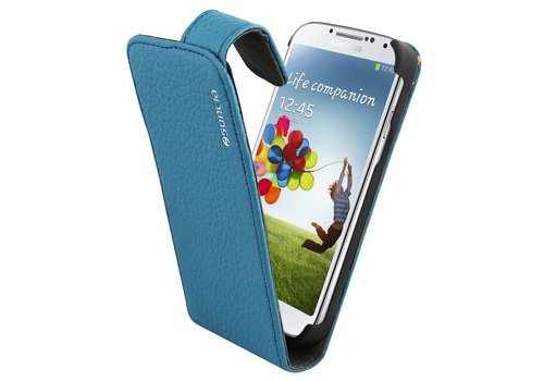 Suncia Leather1 i9500 Galaxy S4 Classic Blue