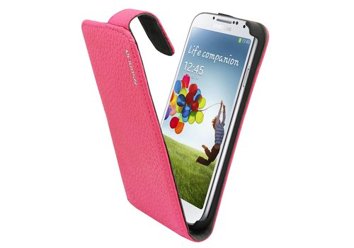 Suncia Leather1 i9500 Galaxy S4 Klassiek D. Roze