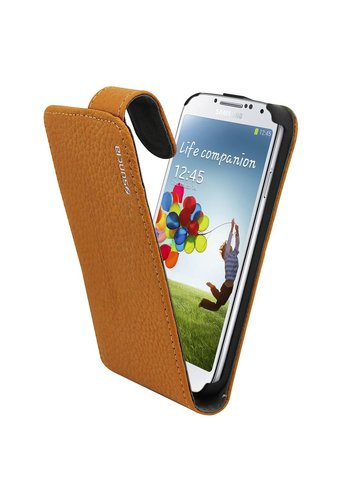 Leather1 i9500 Galaxy S4 Classic Brown