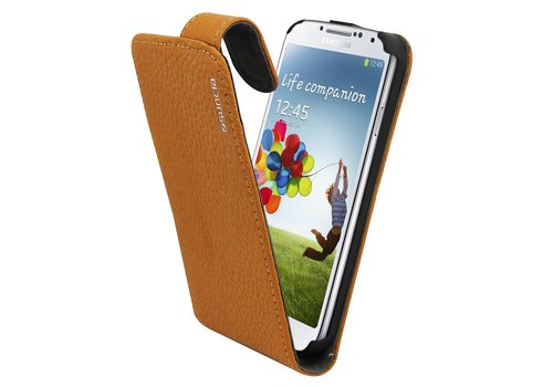 Suncia Leather1 i9500 Galaxy S4 Klassiek Bruin