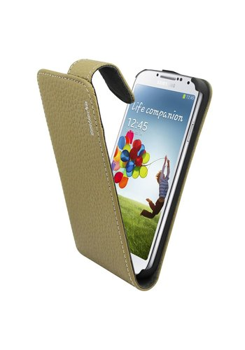 Suncia Leather1 i9500 Galaxy S4 Klassiek Grijs