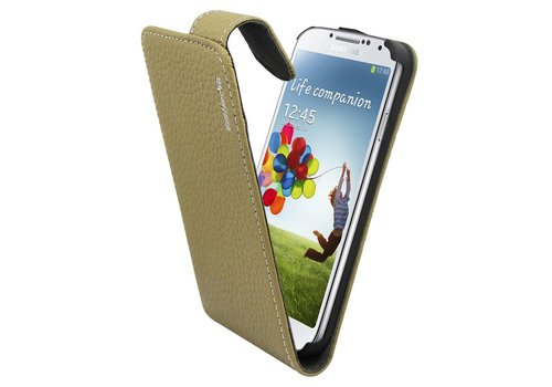 Suncia Leather1 i9500 Galaxy S4 Classic Grey