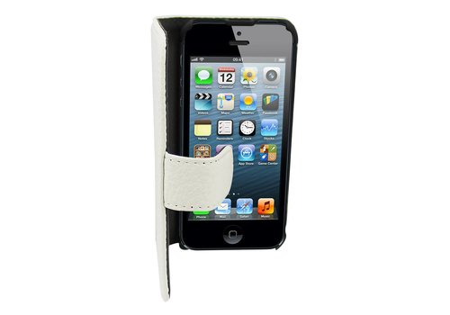 Suncia Leather2 for iPhone 5/5S/SE Classic White