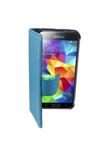 Suncia Leather2 i9500 Galaxy S4 Klassiek Blauw