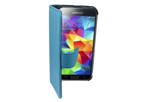 Suncia Leather2 for i9500 Galaxy S4 Classic Blue