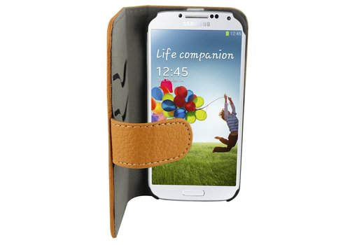 Suncia Leather2 i9500 Galaxy S4 Klassiek Bruin
