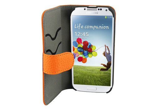 Suncia Leather2 i9500 Galaxy S4 Classic Orange