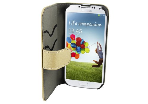 Suncia Leather2 i9600 Galaxy S5/S5 Plus Klassiek Grijs