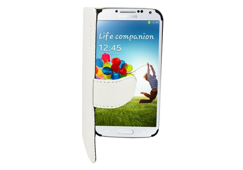 Suncia Leather2 i9600 Galaxy S5/S5 Plus Classic White