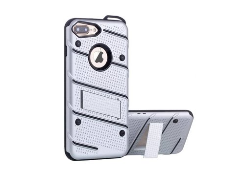 Colorfone Armour Stand iPhone 7 Plus Silver