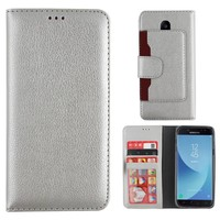 Wallet Case for Samsung Galaxy J3 2017 Silver