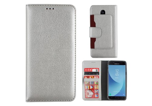 Colorfone Wallet for Galaxy J3 2017 Silver