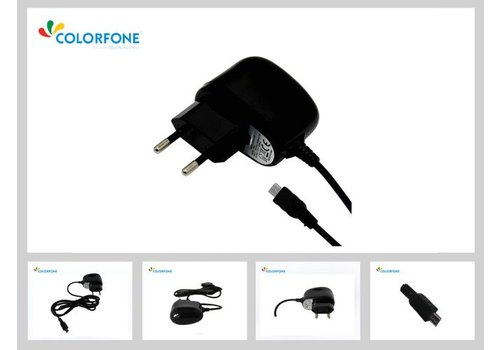 Colorfone Travel Charger Universal Micro USB Black (1000mAh)