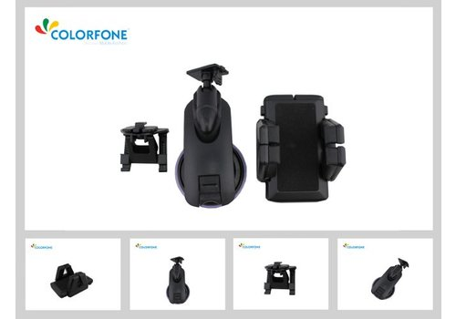Colorfone Houder 3in1 Universeel2 (Mount Window+Houder+Car-Vent)