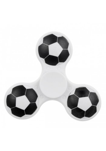 Hand Spinner Voetbal Wit