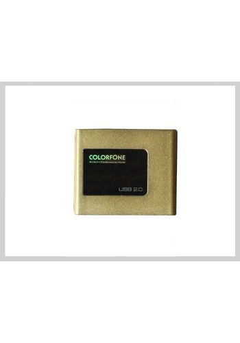 Colorfone USB Card Reader Luxury Gold