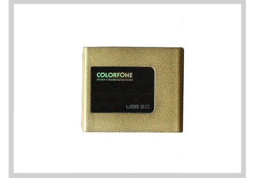 Colorfone USB Card Reader Gold
