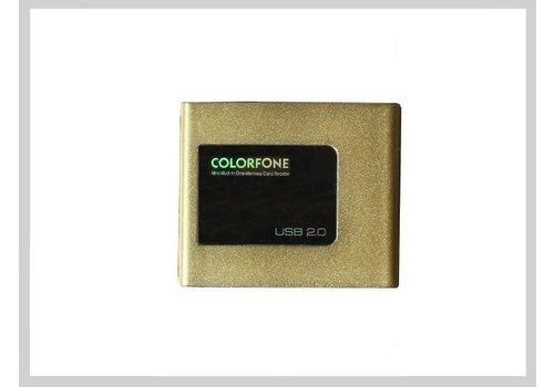 Colorfone USB Kaartlezer Luxury Goud