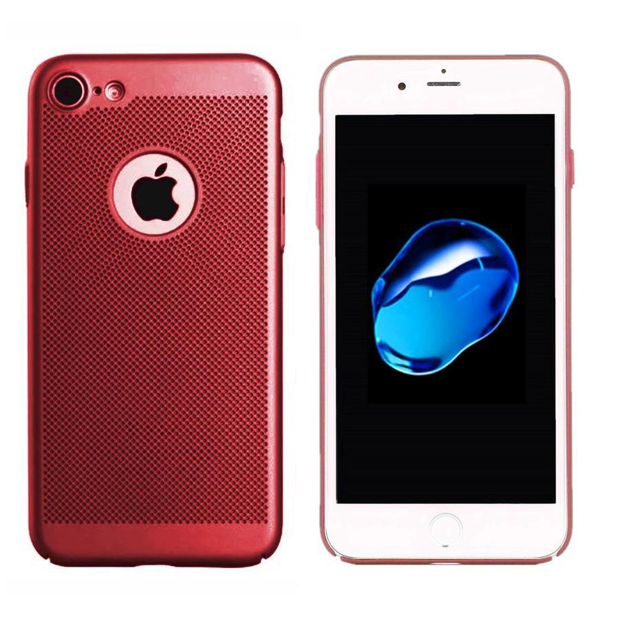 Backcover Holes voor Apple iPhone 8 Rood