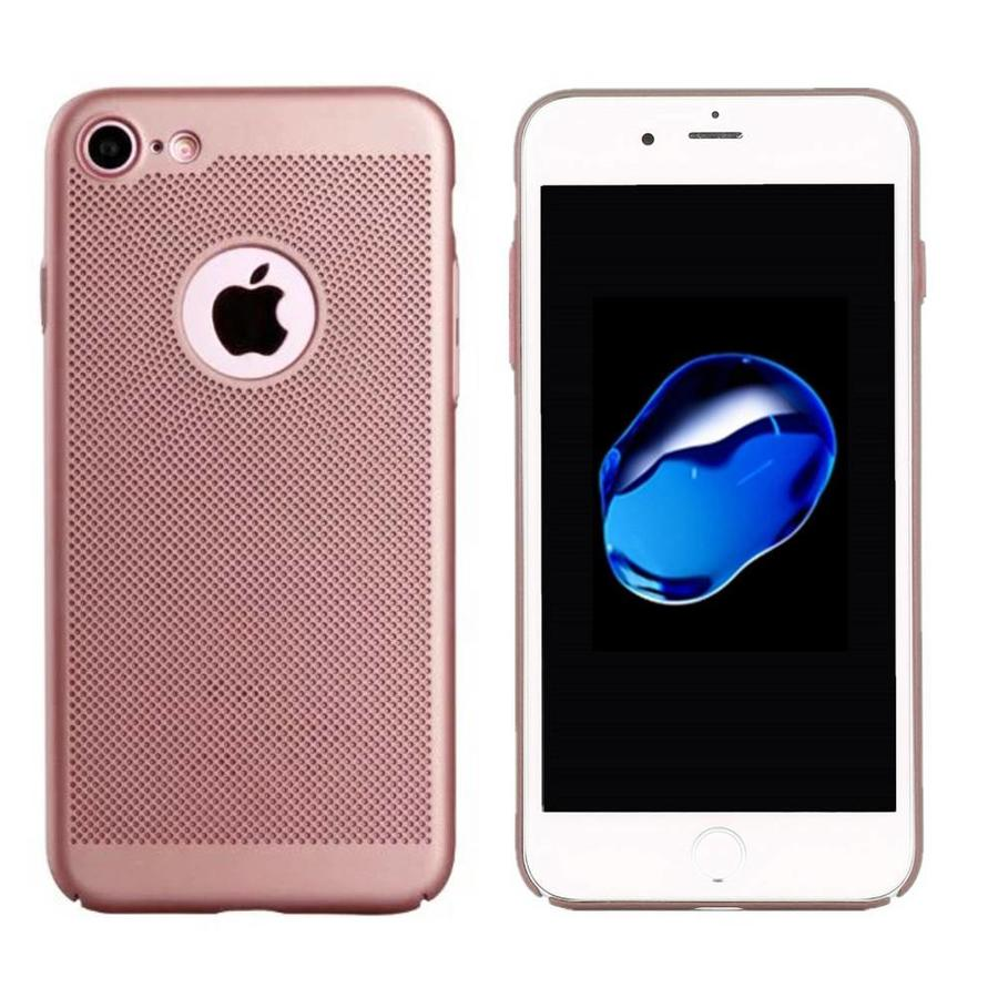 Backcover Holes voor Apple iPhone 8 Rose Goud