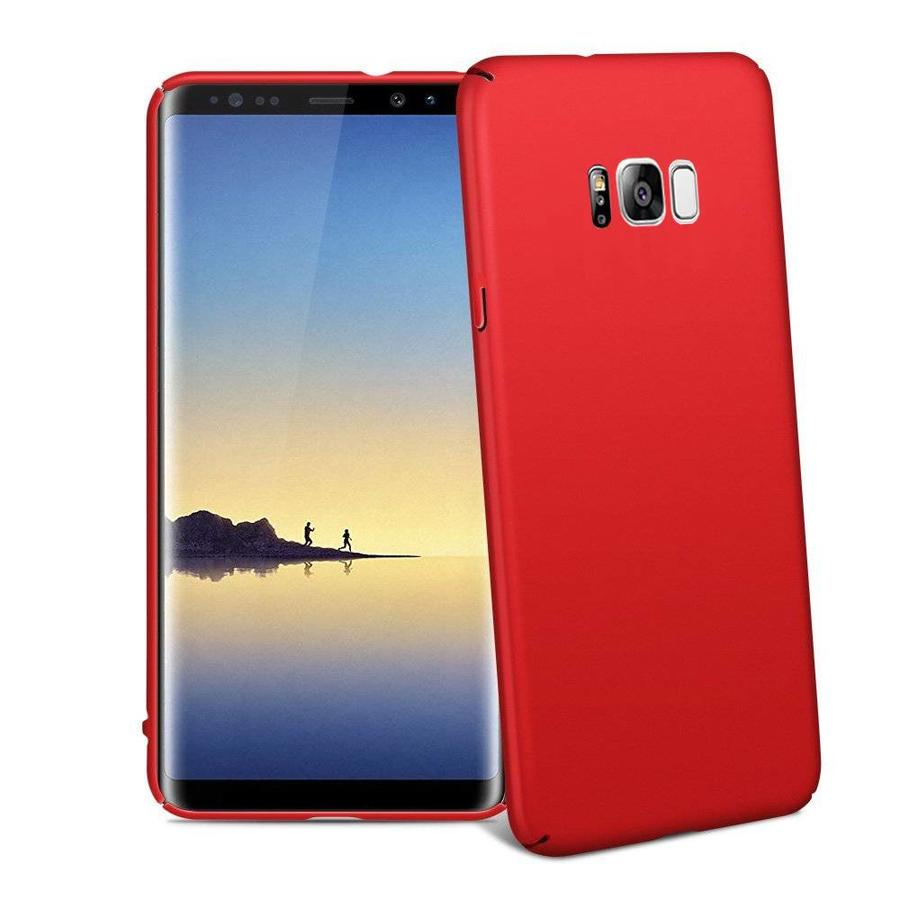 BackCover Mat voor Samsung S8 Rood