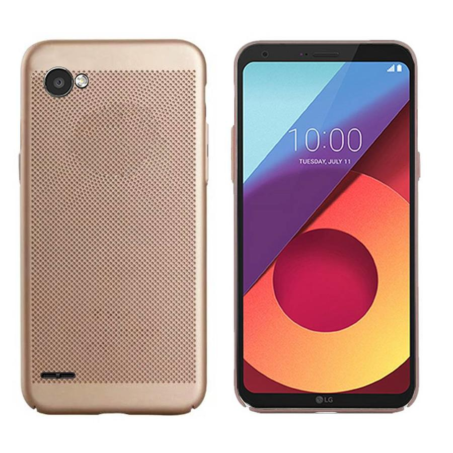 Backcover Holes voor LG Q6 Goud