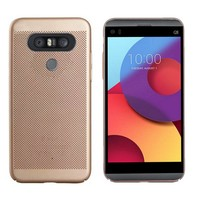 Backcover Holes voor LG Q8 Goud