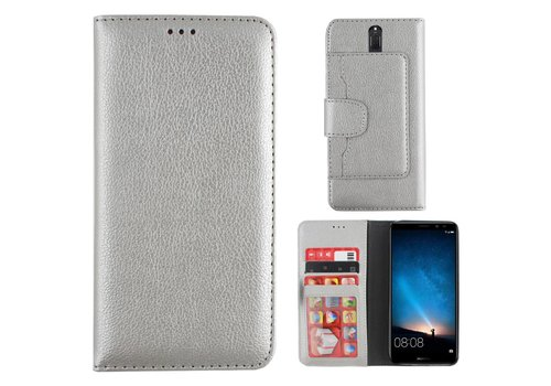 Colorfone Wallet Case Mate 10 Lite Zilver