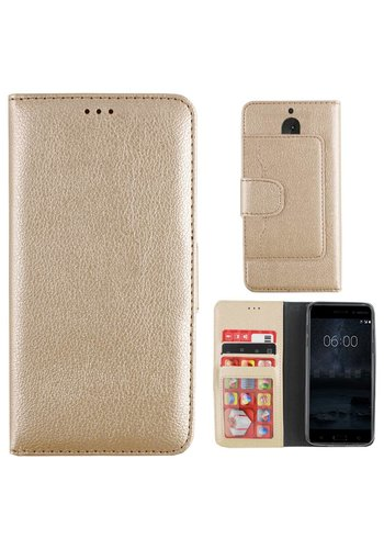 Colorfone Wallet Case Nokia 6 Goud