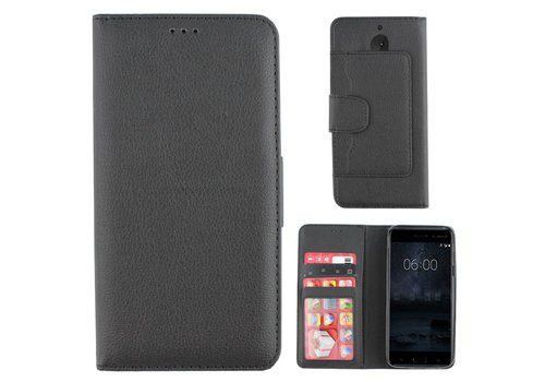 Colorfone Wallet Case Nokia 6 Zwart