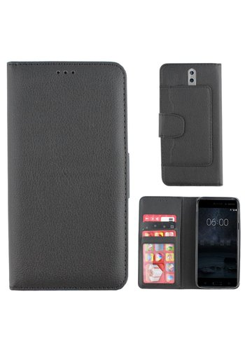 Colorfone Wallet Case Nokia 8 Zwart