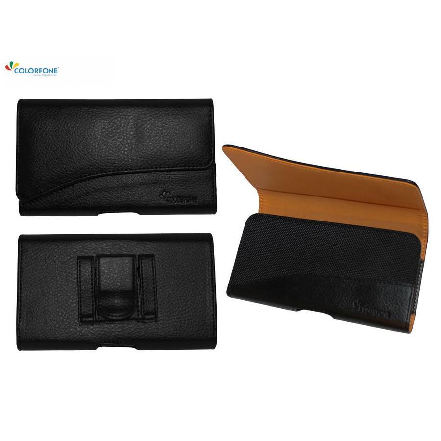 Case Horizontaal Elegant for Apple iPhone X/Xs Black
