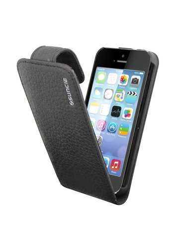 Suncia Leather1 iPhone 5 Klassiek Zwart