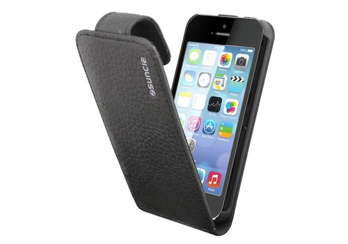 Suncia Leather1 for iPhone 5 Classic Black