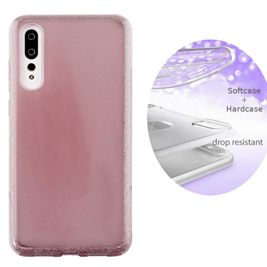 BackCover Layer TPU + PC Huawei P20 Pro Roze