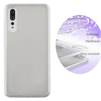 BackCover Layer TPU + PC Huawei P20 Pro Silber