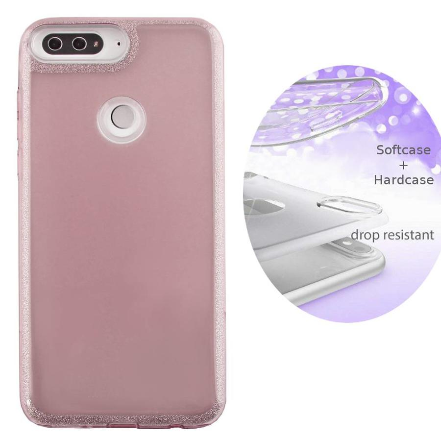 BackCover Layer TPU + PC Huawei Y7 2018 Roze