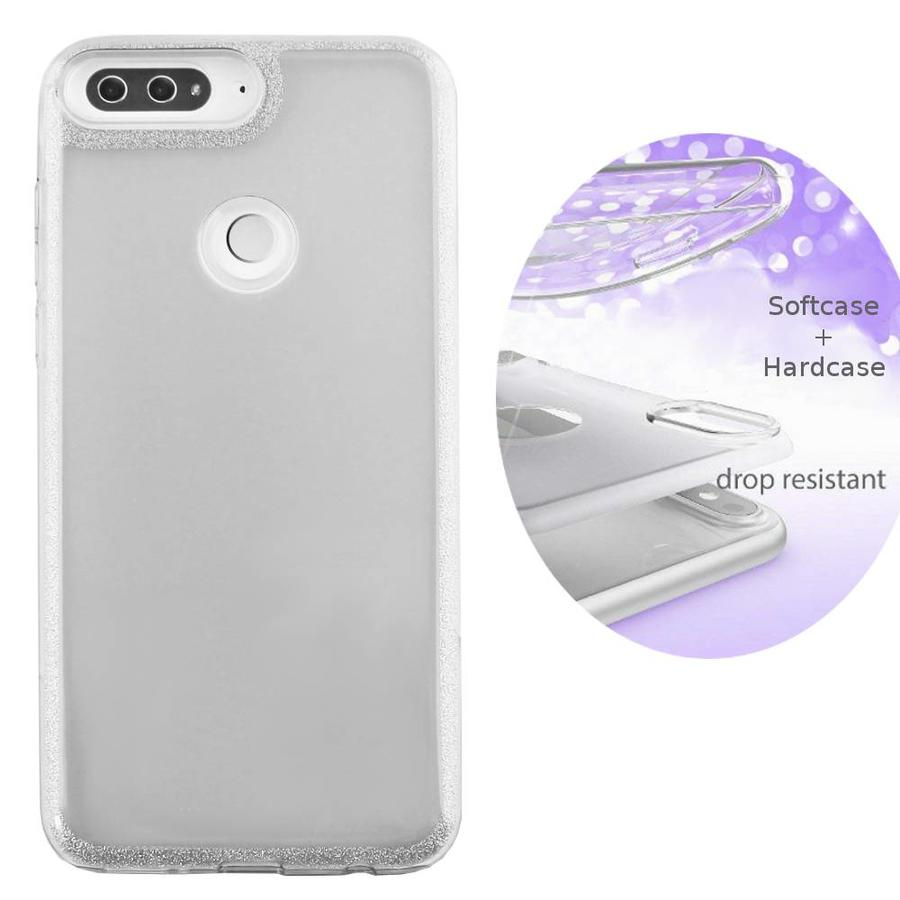 BackCover Layer TPU + PC Huawei Y7 2018 Zilver