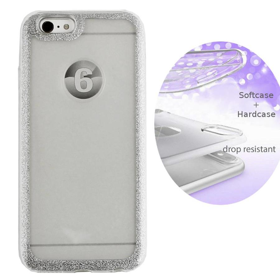 BackCover Layer TPU + PC Apple iPhone 7 Silber