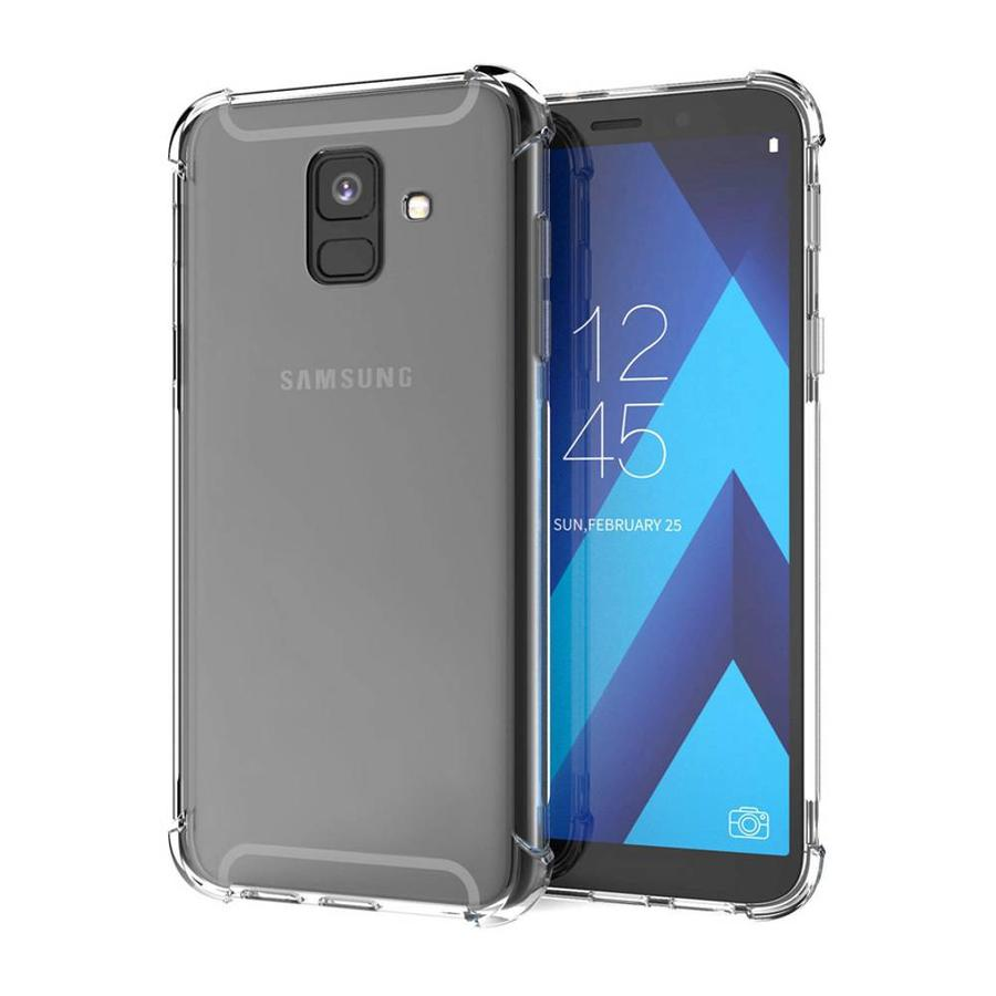 Backcover Shockproof TPU + PC voor Samsung A6 2018 Transparant