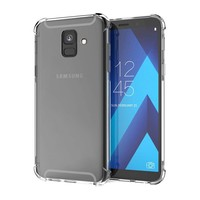 Backcover Shockproof TPU + PC voor Samsung A6 Plus 2018 Transparant