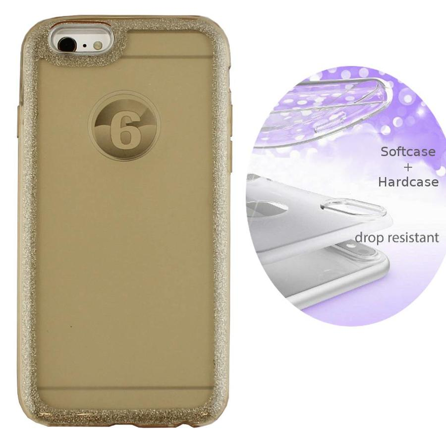 BackCover Layer TPU + PC Apple iPhone 8 Plus/7 Plus Goud