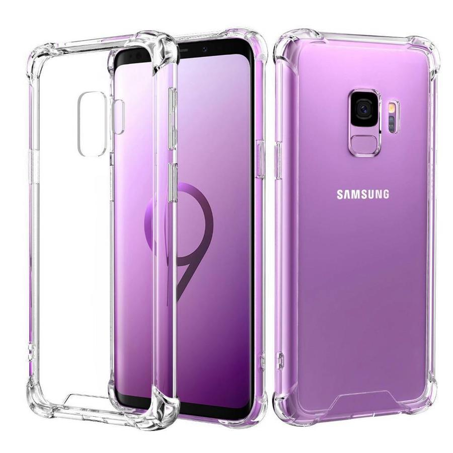 Backcover Shockproof TPU + PC voor Samsung S9 Transparant
