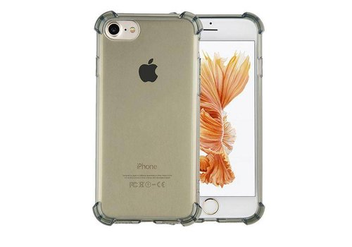 Colorfone Shockproof TPU 1.5mm iPhone 6/6S Transparant Zwart