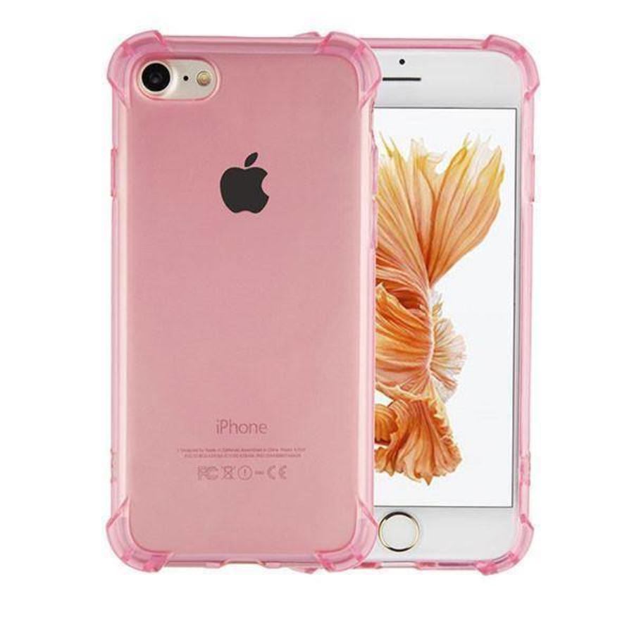 Backcover Shockproof TPU 1.5mm Apple iPhone 8 Plus/7 Plus Transparant Roze