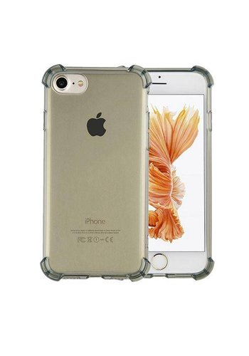 Colorfone Shockproof TPU 1.5mm iPhone 8 Plus/7 Plus Transparant Zwart