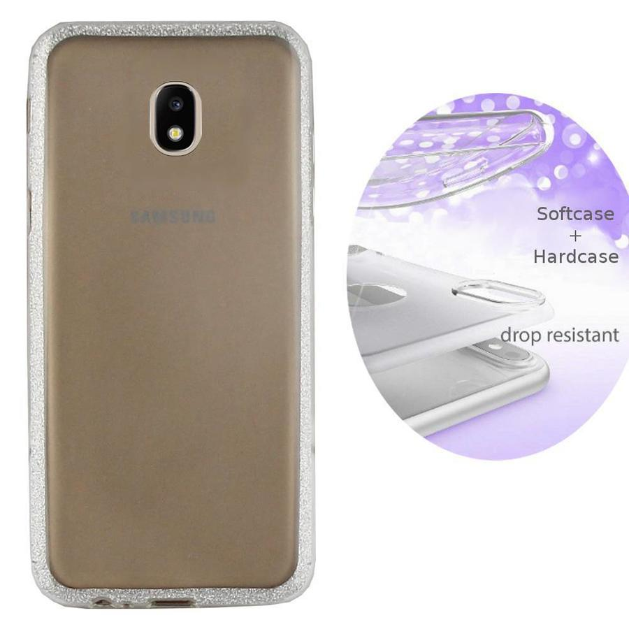 BackCover Layer TPU + PC Samsung J5 2017 Zilver