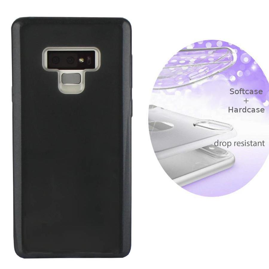 BackCover Layer TPU + PC Samsung Note 9 Zwart