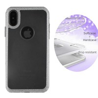 BackCover Schicht TPU + PC Apple iPhone Xs Max Silber